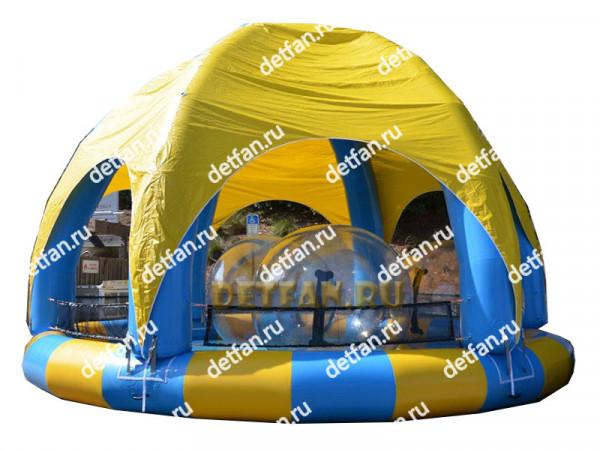 """Надувной бассейн """"С крышей №1"""" 7*7*4,5м"""