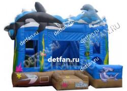 """Надувной батут """"Дельфины"""" 6*5*4м"""