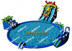 "Надувной аквапарк ""Батискаф"" 25*25*8м"