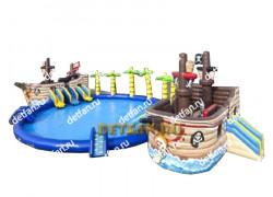 """Надувной аквапарк """"Кораблики"""" 19*10*5м"""