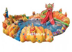 "Надувной аквапарк ""Дракон"" 30*30*10м"